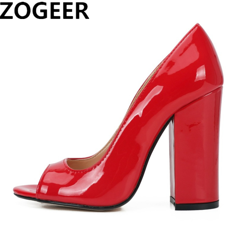 Plus Size 48 Fashion 11cm High Heels Women Pumps Sexy Ladies Party Shoes Peep Toe Classic