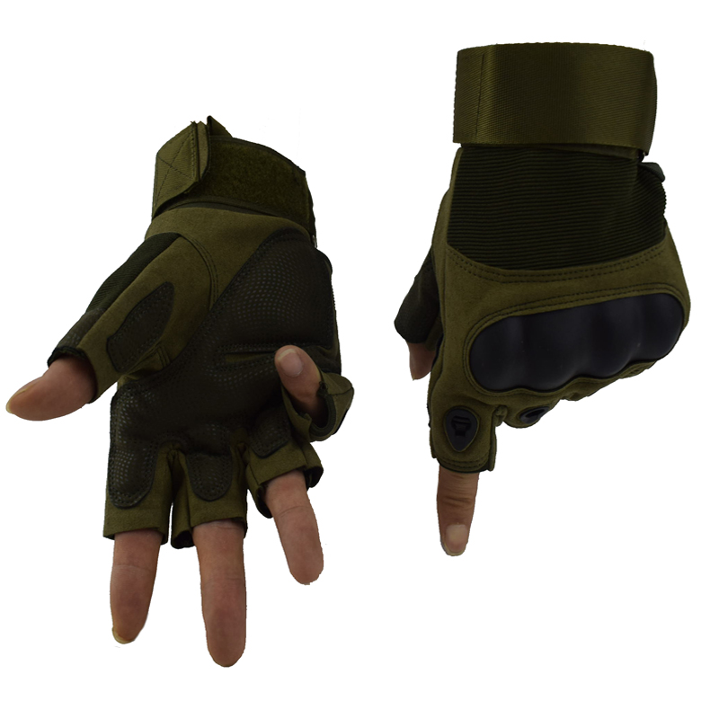Men Tactical Gloves Half Finger Combat Military Army Gloves Outdoor Fingerless Sport Gloves Hiking Camping Mittens 3 Colors in Hiking Gloves from Sports Entertainment