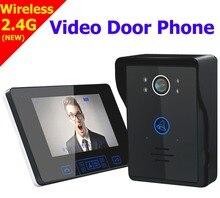 Wysyłka free wireless touch key 7 cal lcd video telefon drzwi domofon z ir kamera 1000 linii tv wodoodporna