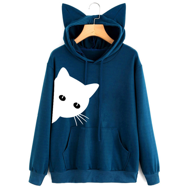 Women's Cat Ears Styled Sweatshirt