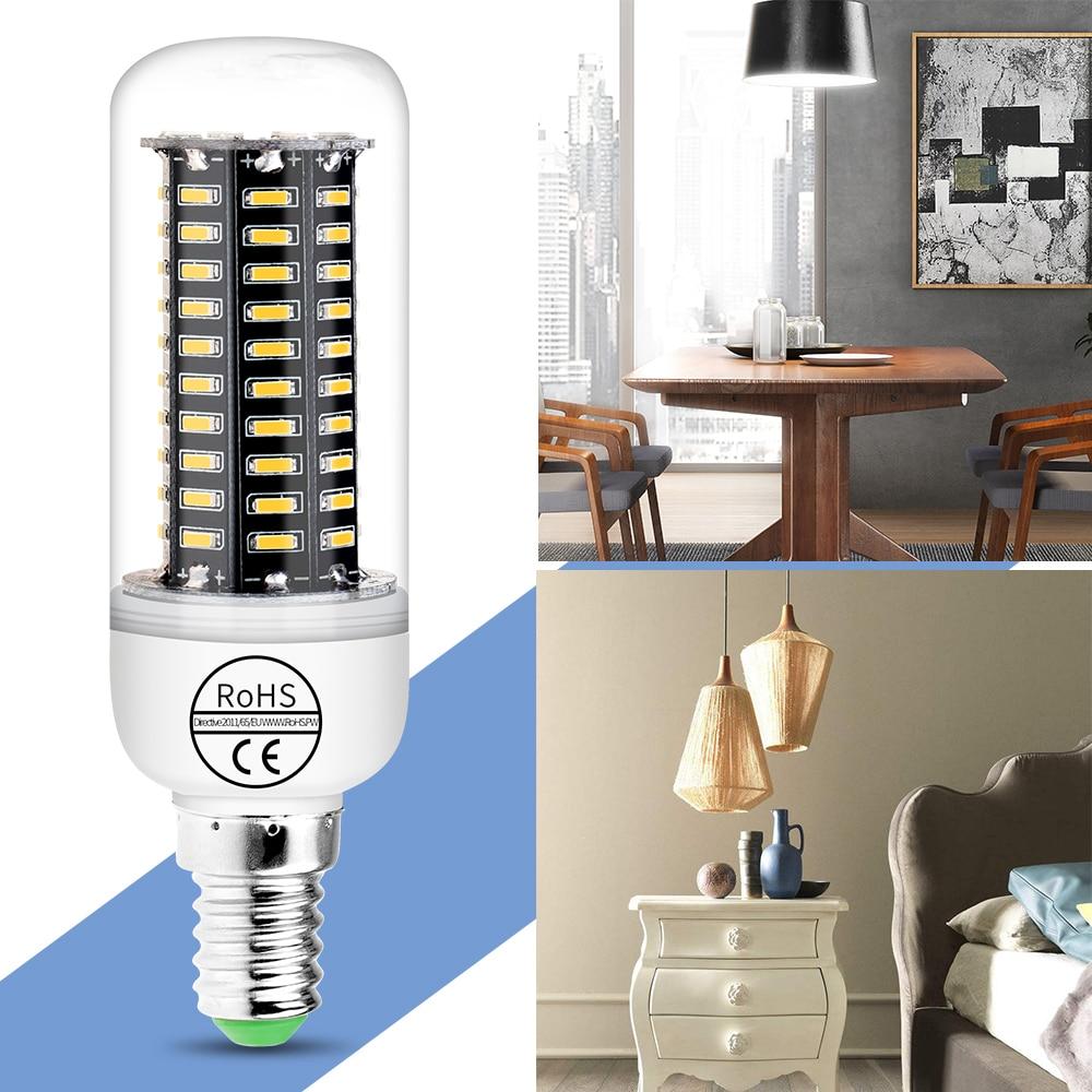 Ampoule led E27 220V Lamp bombillas E14 LED Corn Light Bulb 38 55 78 88 140leds 4014SMD Eye protection Energy saving Lights 240V