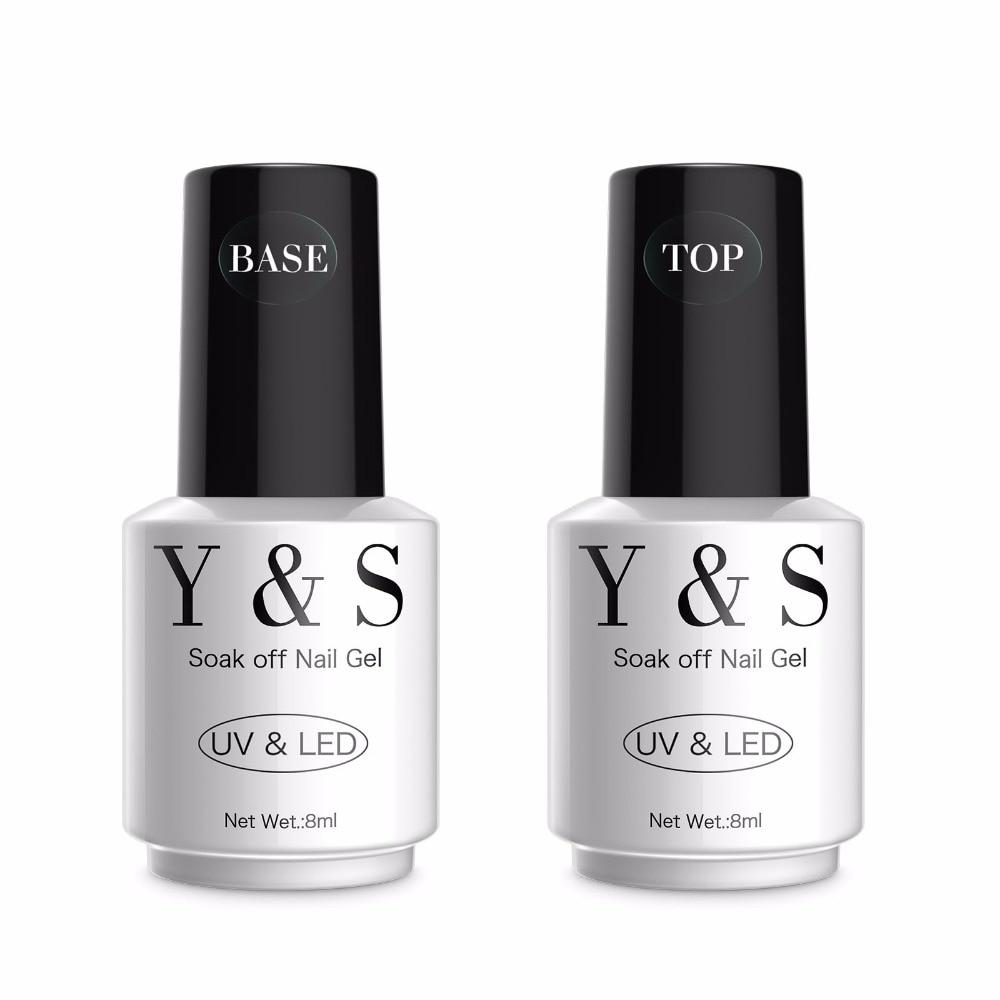 Y&S Easy Soak Off Gel Nail Polish 8ml Base Gel Top Coat UV