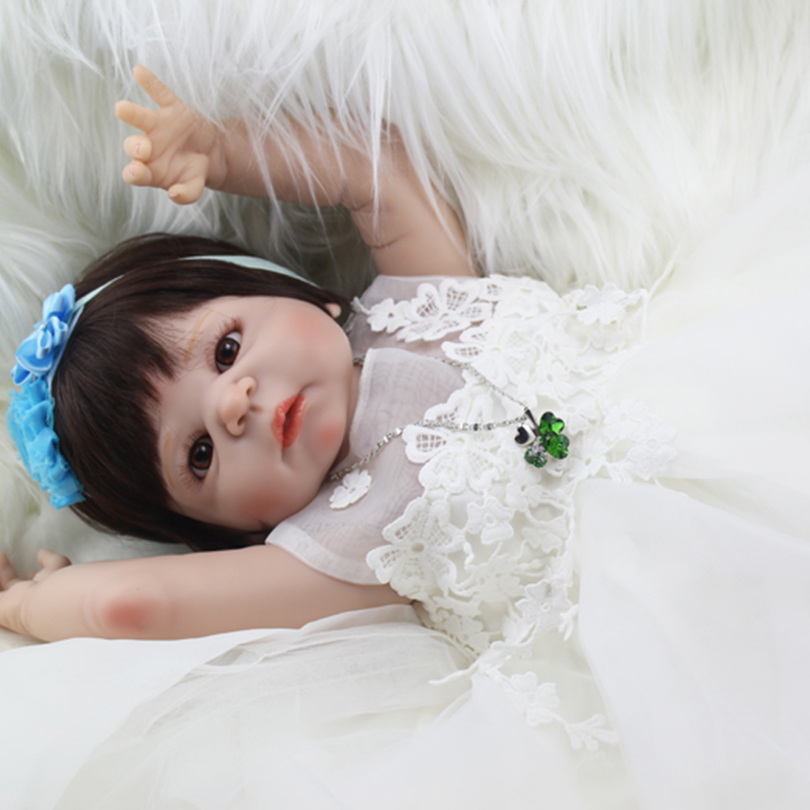 55cm Full Silicone Reborn Baby Dolls Toy Princess Toddler Babies Alive Victoria Doll Girl Bonecas Child Gift Play House Toy 40cm silicone reborn baby doll toy 16inch newborn princess girls babies dolls birthday xmas gift girls bonecas play house toy