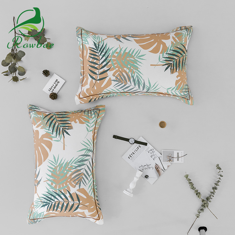 ROWBOE cotton luxury printed decorative pillowcase 480 740MM 1Pcs comfortable breathable sleep home hotel in Pillow Case from Home Garden