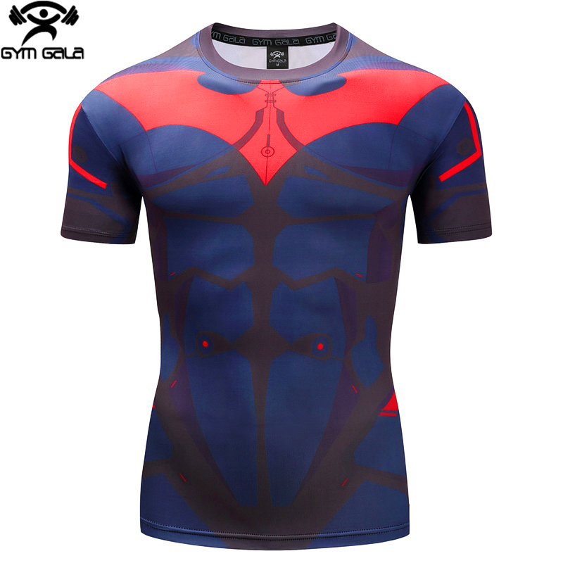 Men's T Shirt Clothing Compression Shirt 3D Printing Fitness Crossfit Skin Workout Bodybuilding