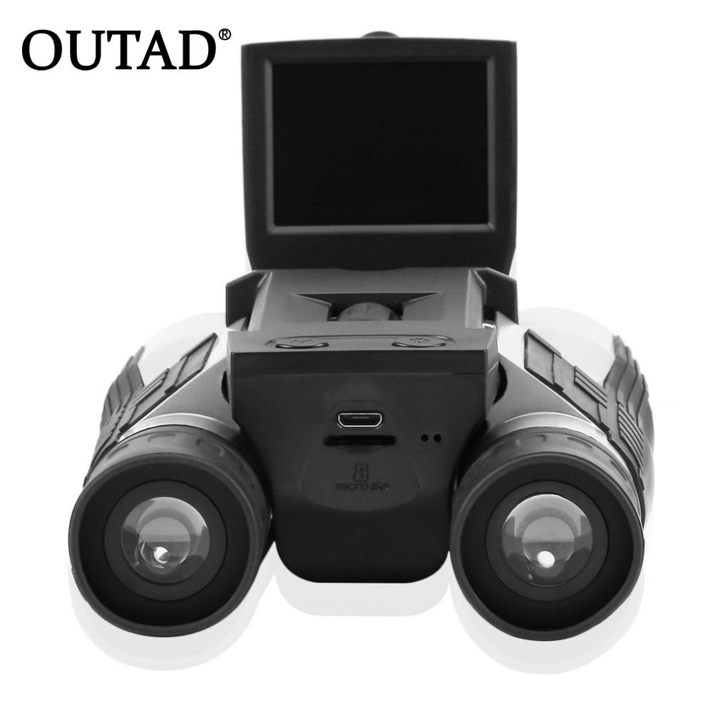 OUTAD Full HD 1080P Digital Camera 2.0 LCD 12x32 HD Black Binoculars Telescope Folding with Built-in Digital Camera HOT texet full hd 1080 плеер