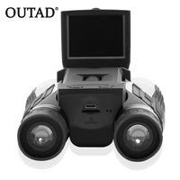 Free Shipping Full HD 1080P Digital Camera 2 0 LCD 12x32 HD Black Binoculars Telescope Folding