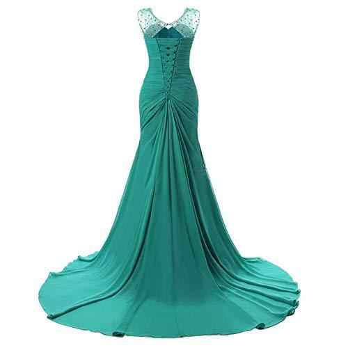 בת ים שיפון ירוק ערב שמלות ארוך 2019 Actural העבאיה Gece Vestido דה Festa לונגו פורמליות ערב שמלות שמלות