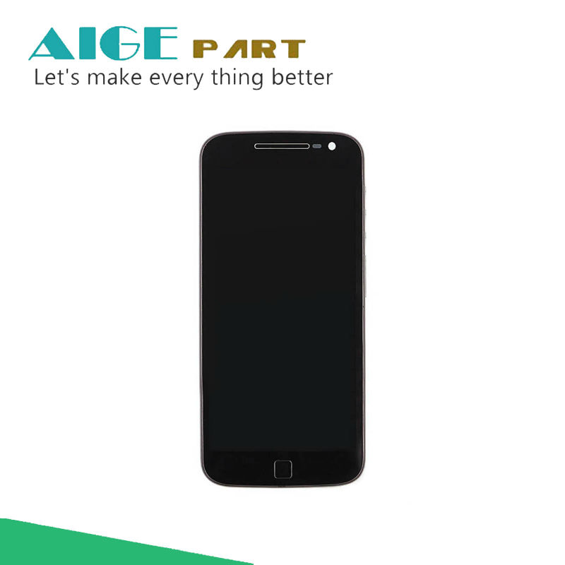 ФОТО 100% Tested  For Motorola Moto G4 Plus XT1644 LCD Display+Touch Screen Digitizer Assembly With Frame Free Shipping