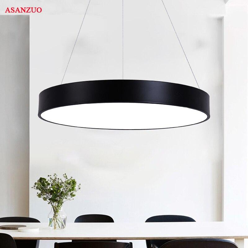 Round LED Panel Pendant Lights  18W 24W 36W  AC85-265V Office Restaurant Pendant Lights