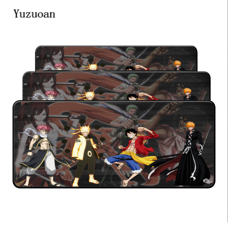 Yuzuoan Overlock Nauto Bleach One Piece Japanese Anime Mouse Pad Large Pad to Mouse Notbook Computer Mousepad Gaming Mouse Mats