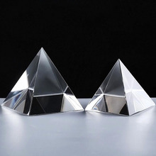 Top Grade Quartz Crystal Glass Pyramid Paperweight Natural Stones Minerals Fengshui Figurine Home Wdding Office Decor Ornaments