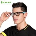 Soolala deportes de la moda gafas de marco marco de las lentes ópticas de alta calidad de silicona antideslizante brazo lente transparente gafas de grau