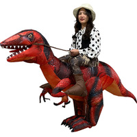 Inflatable Scale Raptor Costume Blower Tyrannosaurus Dinosaurs Inflatable Clothes Cartoon Dolls Mascot