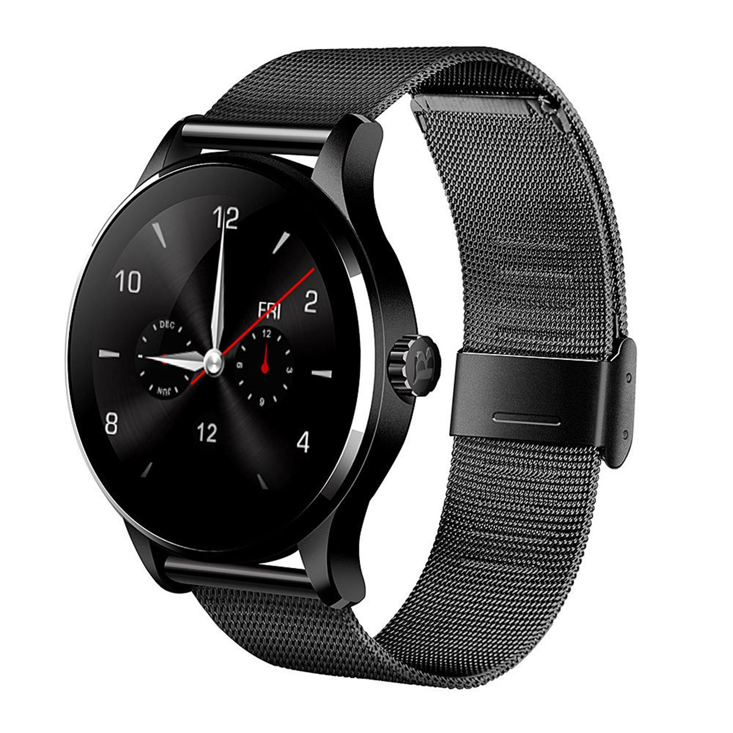 Smart Watch K88H Round Smart Watch IPS Screen Bluetooth 4.0 Heart Rate Monitor Sync Calls Messages IOS Android Phones ataliqi k88h smart watch round screen support heart rate monitor bluetooth smart watch for apple huawei xiaomi phone ios android