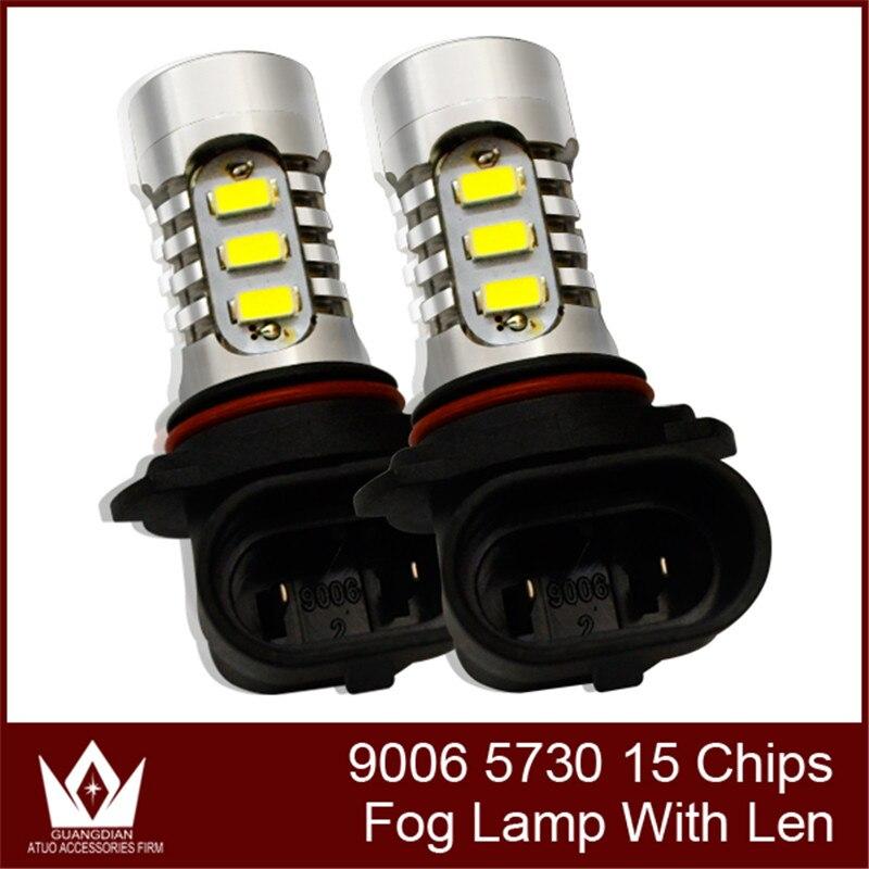 Tcart 1Bulb HB4 led 9-24V 15SMD 5730 7.5W hb4 9006 LED fog light lens led Car Fog Lights headlight [ Buy 5 Get 1 Free]