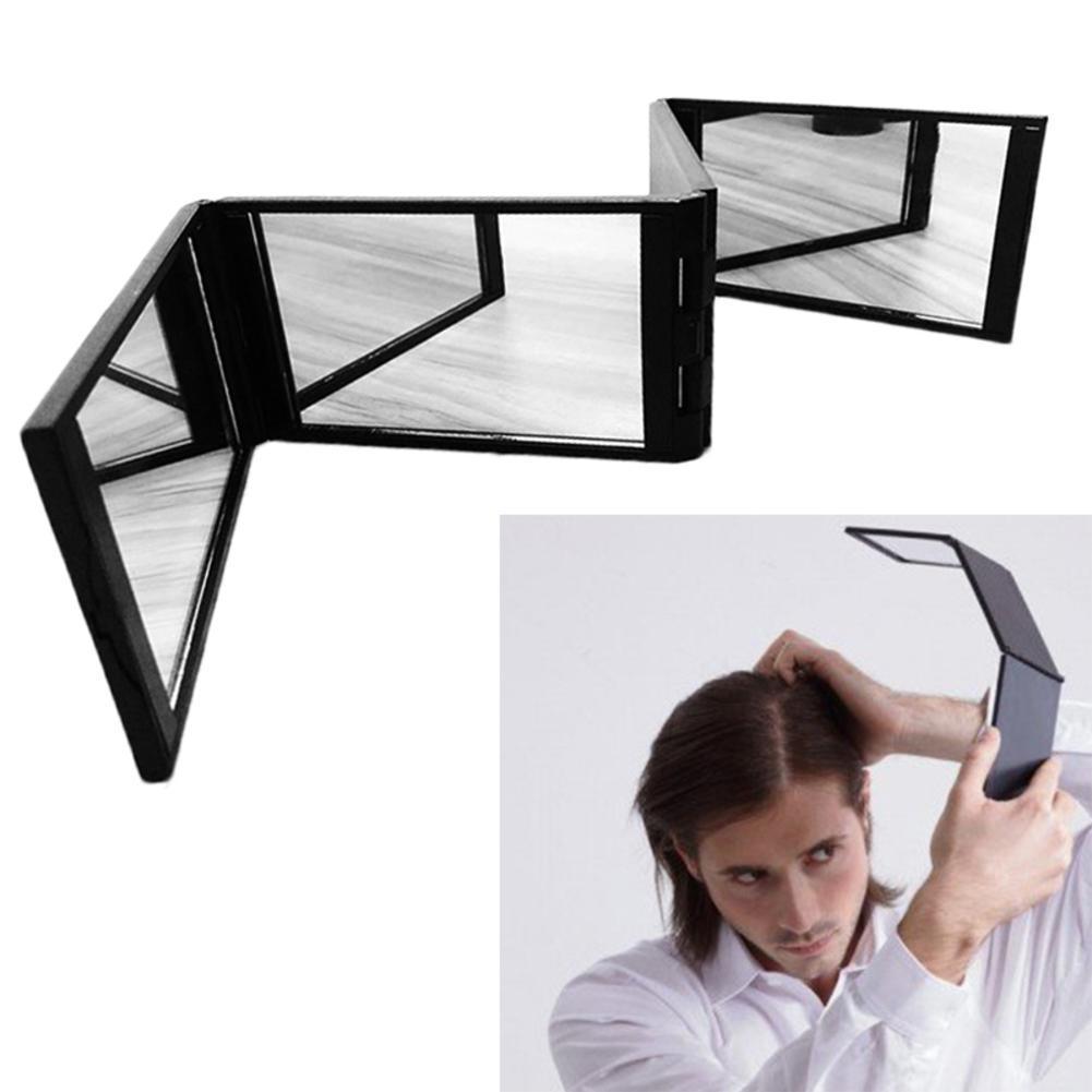 Hair Colouring Makeup Mirrors 360 No Dead Angle Foldable Hair Colouring Mirror Mini Folding Portable Makeup Mirror Make Up Tool