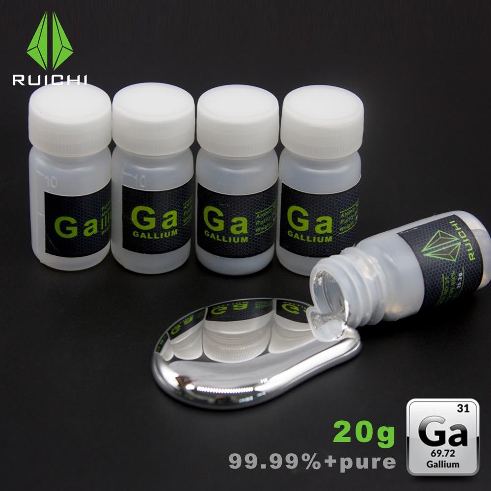 20 Grams 99.99% Pure Refine 4N Liquid Gallium metal Element 31 Free Shipping20 Grams 99.99% Pure Refine 4N Liquid Gallium metal Element 31 Free Shipping