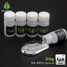 20 граммов 99.99% чистая переработка 4N жидкий Галлий металлический элемент 31 Бесплатная доставка