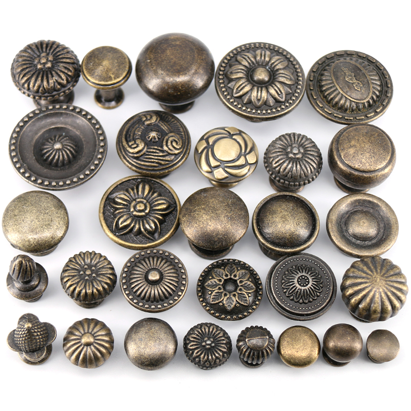 1x  Antique Bronze kitchen cabinet drawer knobs dresser cupboard wardrobe furniture Pulls Handle Wooden Box Jewelry Box knobs