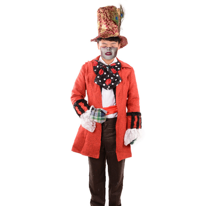 Mad Hatter costume Mens adult Alice in Wonderland costume party cosplay halloween costumes for men fancy dress plus size custom