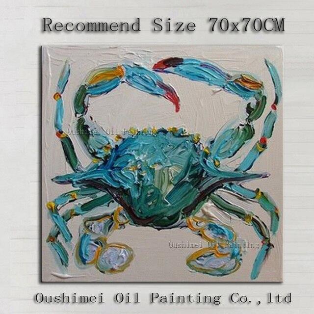 China pintor equipo pintada a mano pura buena calidad cangrejo verde ...