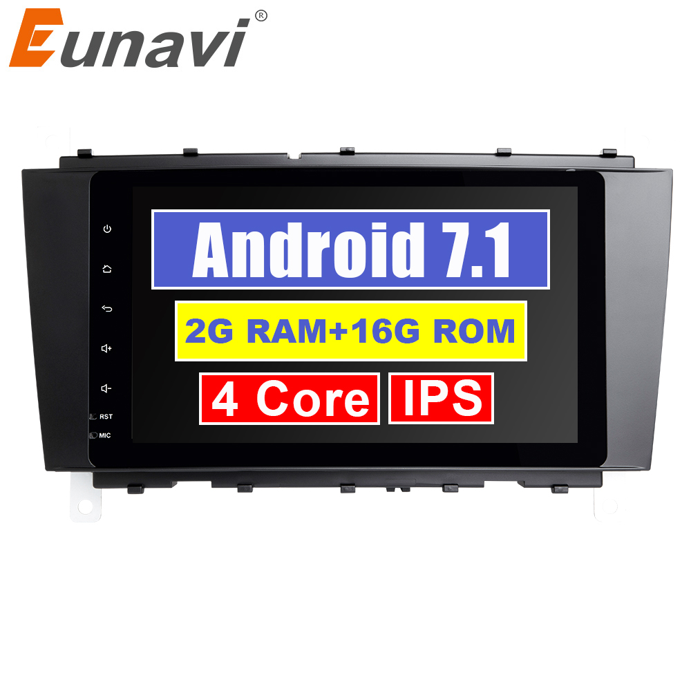 Eunavi 2 Din 9 Android 7.1 Car radio stereo GPS for Mercedes Benz C Class W203 S203 C180 C200 CLK Class C209 W209 C208 W208Eunavi 2 Din 9 Android 7.1 Car radio stereo GPS for Mercedes Benz C Class W203 S203 C180 C200 CLK Class C209 W209 C208 W208
