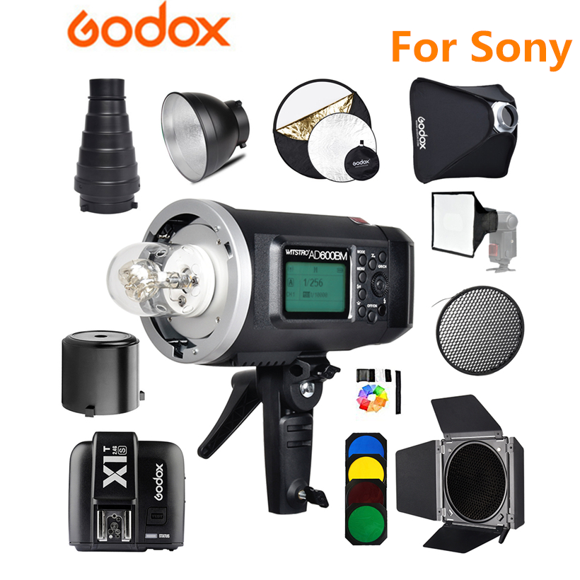 <font><b>Godox</b></font> <font><b>AD600BM</b></font> Bowens Mount HSS 1/8000s Outdoor Flash with 2.4G X System 8700mAh Li-on Battery+ X1T-S Transmitter for Sony image