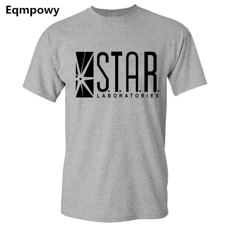 Eqmpowy 2017 New THE FLASH superhero short sleeve t shirt STAR LABORATORIES star labs joggers homme s summer jersey women men
