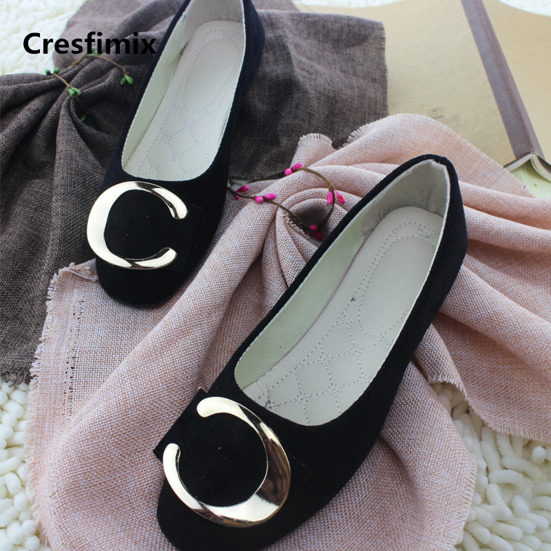 Cresfimix zapatos de mujer women fashion comfortable plus size flat shoes lady cool spring & summer flock shoes cute shoes a2370 cresfimix zapatos de mujer women casual plus size retro flat shoes lady leisure spring