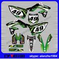 FREE SHIPPING TOP QUALITY KX250F 2013 2014 2015 KXF250 NUMBER 49 MOTORCYCLE 3M GRAPHICS DECALS STICKERS KITS OFF ROAD MOTORCYCLE