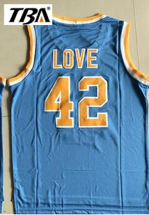 71acab61b57b New Kevin Love  42 UCLA Bruins Basketball Jersey Camisa Embroidery Logos  Stitched Movie Basketball Jerseys