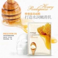 BIOAQUA דבש מסכה לפנים לחות שליטת שמן מסיכת פנים להאיר מסכה מזינה לכווץ נקבוביות טיפוח עור