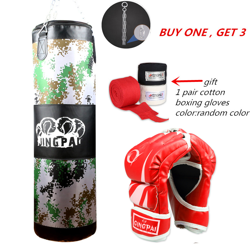 Us 49 91 4 Off 2017new Canvas Sandbag Child Mma Kickboxing Punching Bag Heavy Duty Grling Fighting Boxing Gloves Suit Empty Punch Bags In