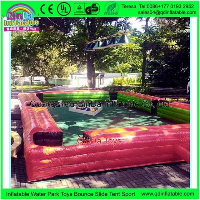 Commercial Adults Toys 8m*5m Cheap Pool Tables Outdoor Inflatable Pool Table Snookball As Playground Equipment Outdoor