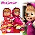 El envío más rápido masha y oso de dibujos animados baby toys plush dolls niños kids toys regalo 28 cm muñeca de peluche para los niños