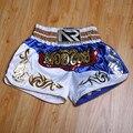 2018 pantalones de boxeo para hombre con estampado de pantalones cortos MMA lucha de lucha corta de poliéster Kick Gel Boxeo Muay Thai pantalones cortos de Boxeo Tailandés