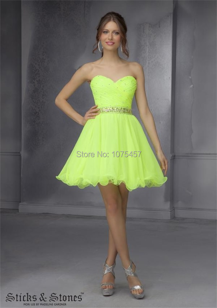Aliexpress.com : Buy Latest Design Lime Green Cocktail Dress with ...