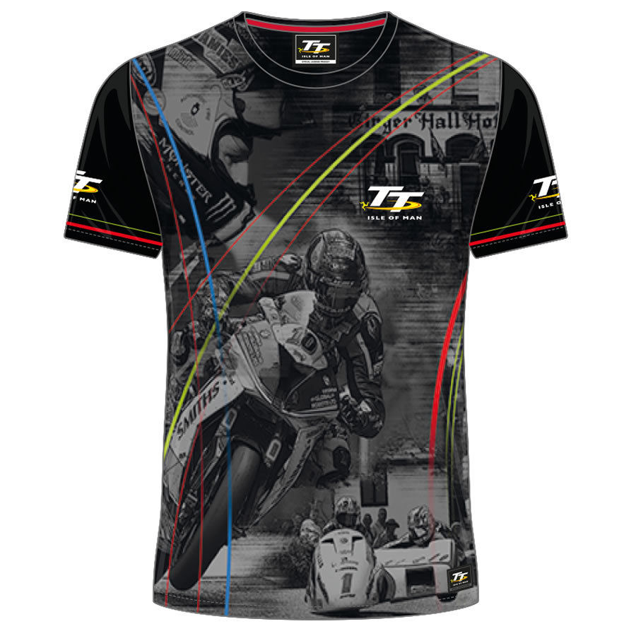 2018 MOTO GP TT Racing T-Shirts Isle Of Man Motorcycle Road Races Short Sleeve Tees Shirt Men s Summer Mountain Course T Shirt