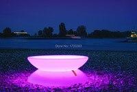 D80 * h44 света и формы в полной гармонии светодиодной подсветкой Мебель, гостиная, led журнальный столик перезаряжаемые для баров/события