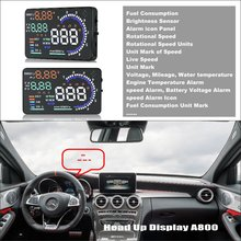 For Mercedes Benz C C63 MB W202 W203 W204 W205 - Car HUD Head Up Display Saft Driving Screen Projector Refkecting Windshield