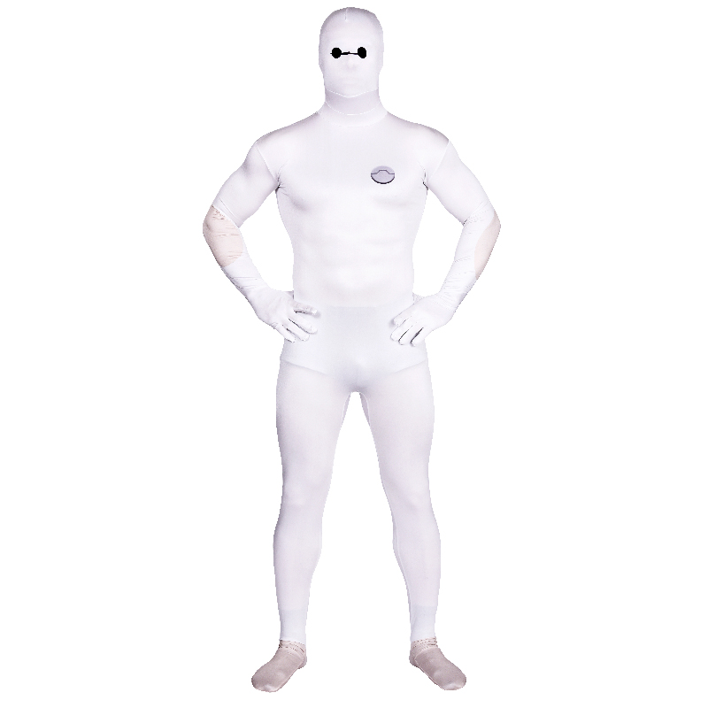 High Quality Men's/Children's Spandex Big Hero 6 Cosplay Costumes Adults Lycra Zentai Cartoon Baymax Suits Halloween Men Costume