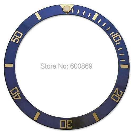gold index on blue  watch bezel insert