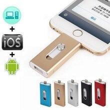 Ightning OTG Flash Drive 8 GB 16 GB 32 GB 64 GB 128 GB Para iOS 10 y usb para pc para tablet otg pendrive para iphone u disco