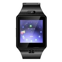 DZ09 Bluetooth reloj inteligente impermeable de cuarzo con MP3/MP4 alarma deportes cronómetro podómetro goma para hombres mujeres