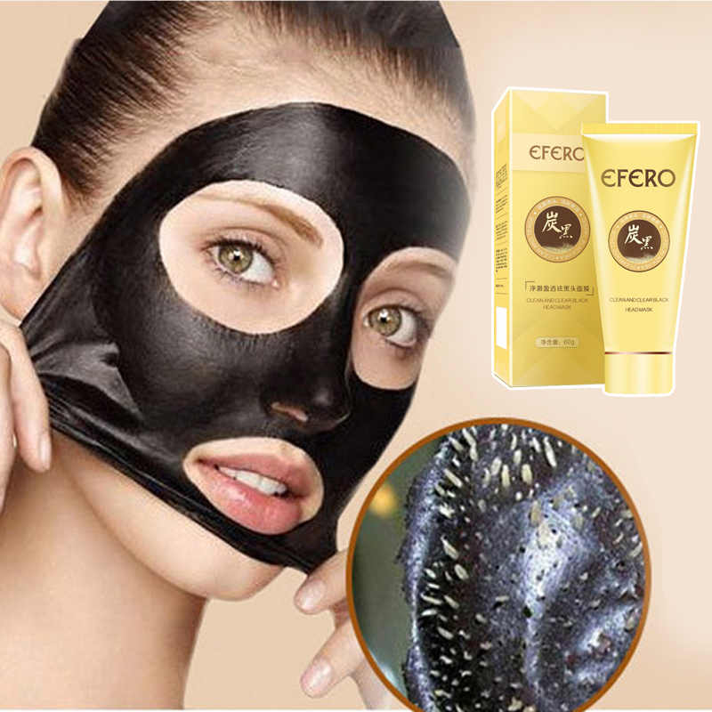 EFREO Black Mask Face Care Blackhead Remover Acne Treatment Charcoal Face Mask Peel Off Mask Black Head Skin Care Nose Strips