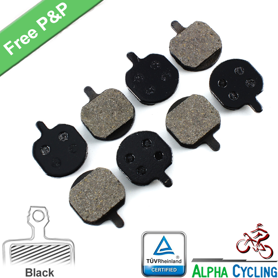 Bicycle Disc Brake Pads for Hayes MX2 MX3 MX4 SOLE, GX-C, JAK-5 Disc Brake,  4 Pairs, Resin Black Class