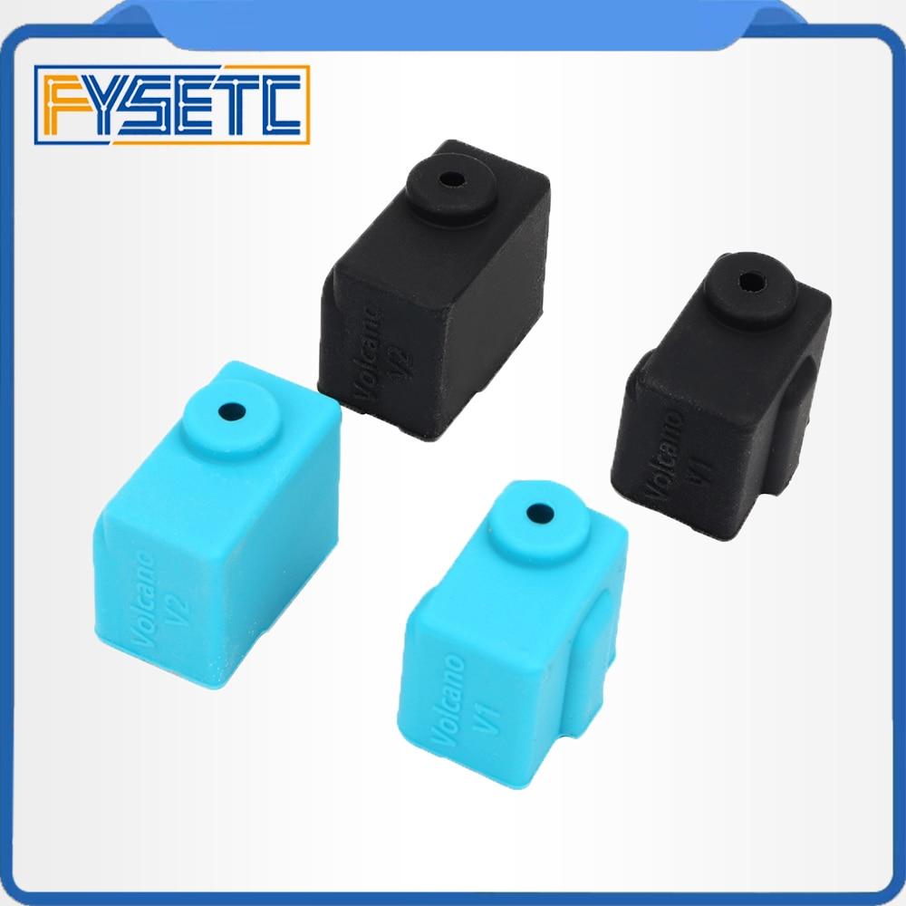 4PCS Silicone Sock Case For V6 PT100 Aluminum Block 3D Printer Part Hot End