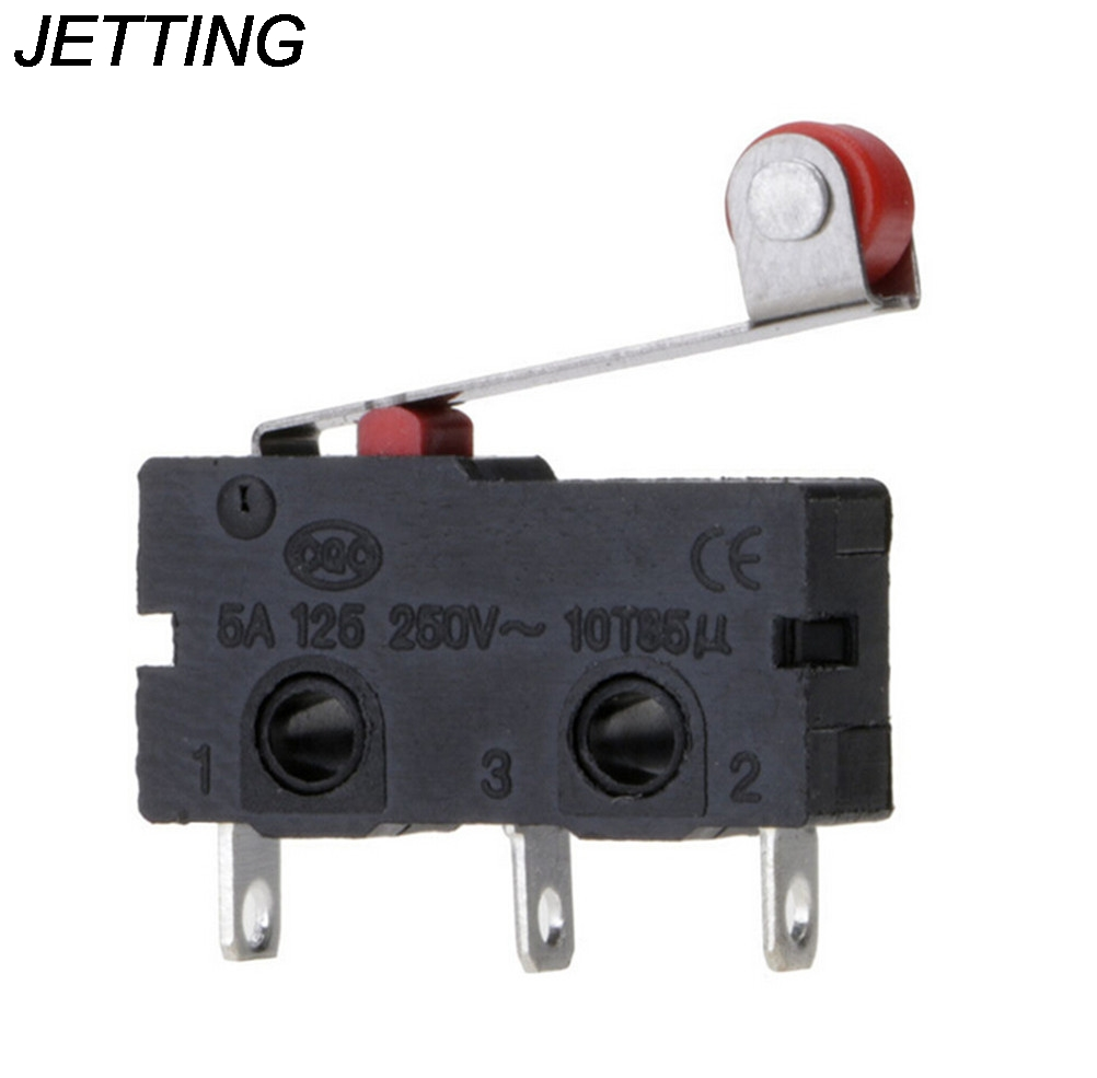 Tool Parts 5pcs/set Micro Roller Lever Arm Open Close Limit Switch Kw12-3 Pcb Microswitch Tool Parts Wholesale Low Price