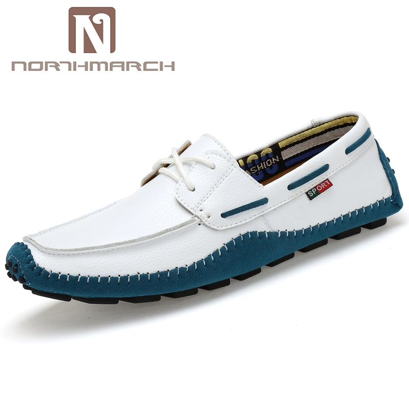 NORTHMARCH Genuine Leather Men Shoes Slip On Driving Shoes Men High Quality Loafer Shoes Men Breathable Soft Mocasines Men sinoextreme italian leather handmade crocodile embossed men loafer shoes leisure shoes slip on shoe luxury breathable men shoes